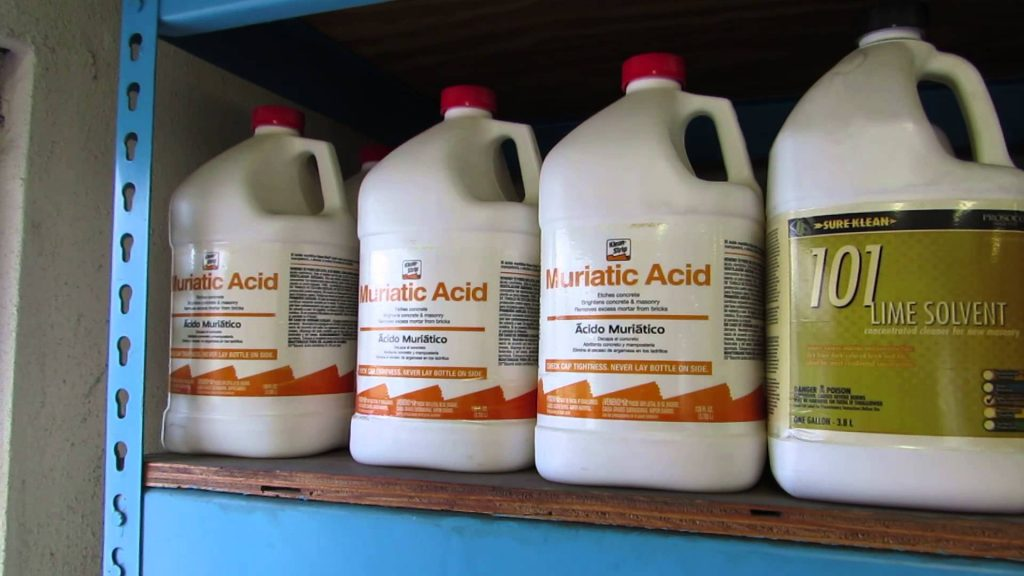 how to dispose of muriatic acid safely - pool cleaner
