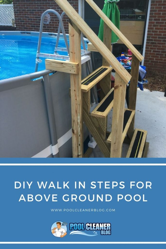 DIY Walk In Steps For Above Ground Pool