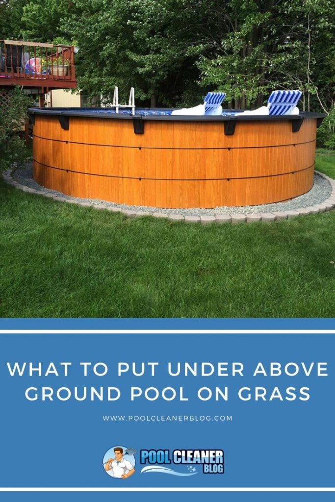 What To Put Under Above Ground Pool On Grass